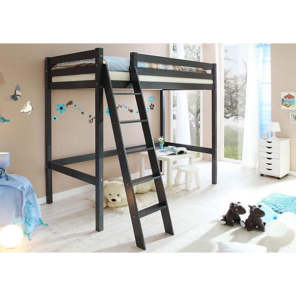 hochbett matthias kiefer massiv lackiert 90 x 200 cm. Black Bedroom Furniture Sets. Home Design Ideas