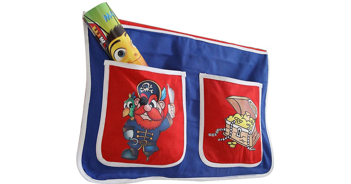 Bett-Tasche Hoch- und Etagenbetten, Pirat blau Gr. 30 x 50 Kinder