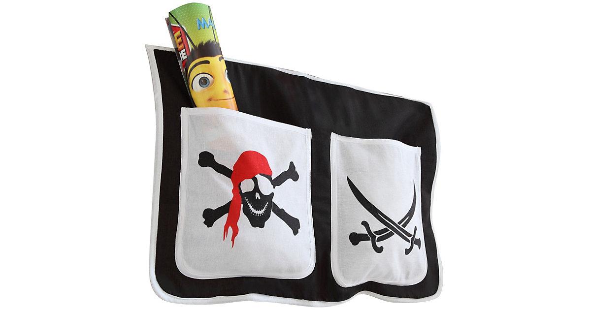 Bett-Tasche Hoch- und Etagenbetten, Pirat schwarz Gr. 30 x 50 Kinder