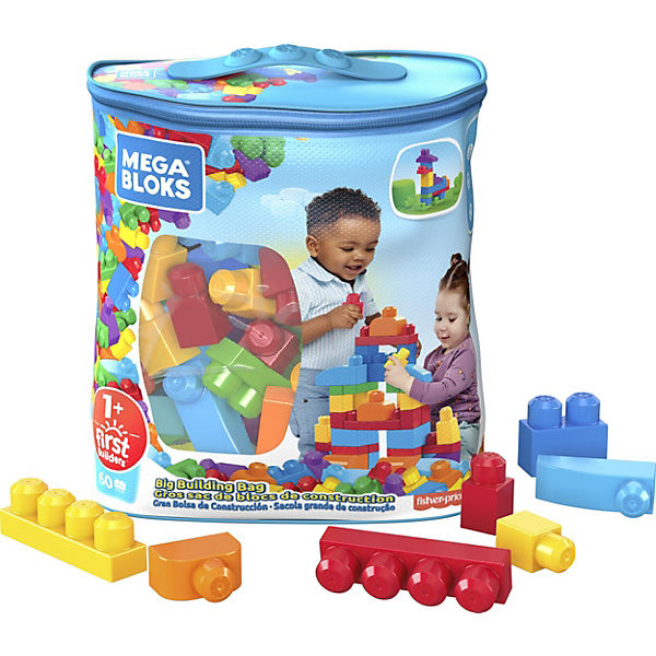 Mega Bloks First Builders Bausteinebeutel Medium, 60 Teile