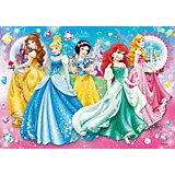 Puzzle mit Glitzersteinen - 104 Teile Princess: Twinkled Ladies