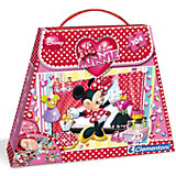 Puzzle mit Handtasche 104 Teile - Minnie Mouse: I love Shopping