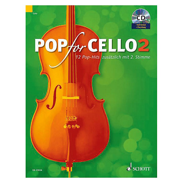 Pop For Cello, für 1-2 Violoncelli, mit Audio-CD
