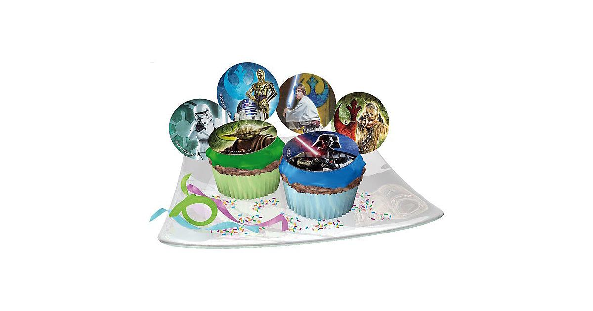 Zucker-Muffinaufleger Star Wars 12 Stück