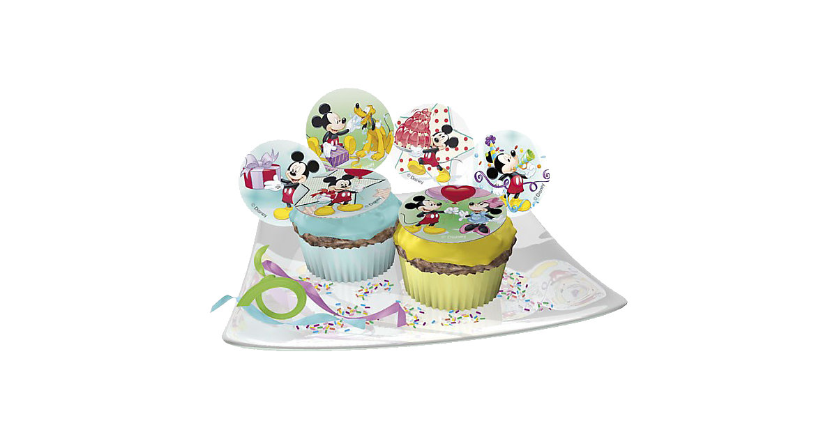 Zucker-Muffinaufleger Mickey Mouse 12 Stück
