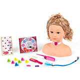 Princess Coralie Make Up & Hair Mannequin, large, 14 pcs.