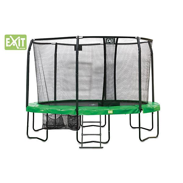 trampolin exitjumparena oval 244 x 380 cm mit sicherheitsnetz exit mytoys. Black Bedroom Furniture Sets. Home Design Ideas