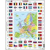 Rahmenpuzzle: Europa - Länder + Flaggen - 70 Teile