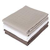 Mullwindeln, grau/anthrazit/weiß, 70 x 70 cm, 6er Pack