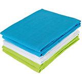 Mullwindeln, lime/aqua/weiß, 70 x 70 cm, 6er Pack