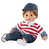 Muffin Puppe, Junge, Weichkörper, braune Haare