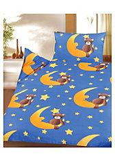 Kinderbettwäsche Sternenbär, Cretonne, 100 x 135