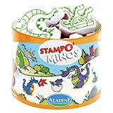 Aladine STAMPO'MINOS Midi-Stempelset Drachen, 11-tlg.