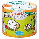 Aladine STAMPO'MINOS Midi-Stempelset Bauernhof, 11-tlg.