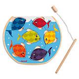 Holzpuzzle Speedy Fish, 6-teilig mit Angel