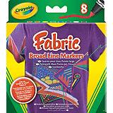 8 маркеров для рисования по ткани, Crayola