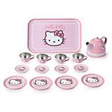 Набор посудки 14 предметов, металлический, Smoby, Hello Kitty
