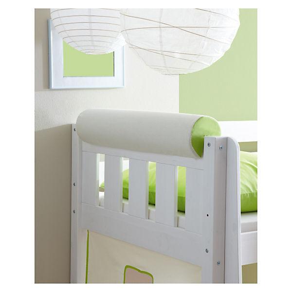 nackenrolle f r spiel und hochbetten beige gr n ticaa. Black Bedroom Furniture Sets. Home Design Ideas