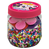 HAMA 2051 midi-Perlen-Dose pink/lila, 4000 Perlen & Zubehör