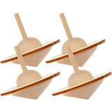 Kreisel Holz zum Basteln und Gestalten, 4 Stück