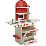 Spielküche, natur/rot