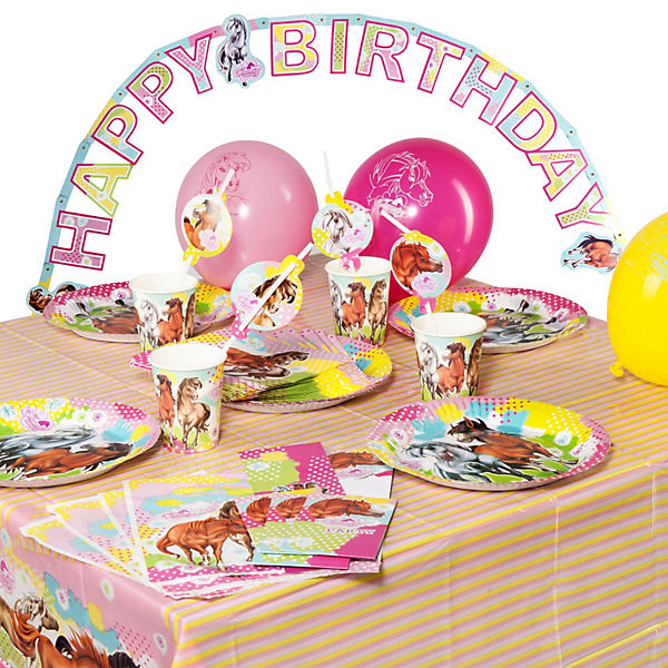 Party-Set Charming Horses, 64-tlg.