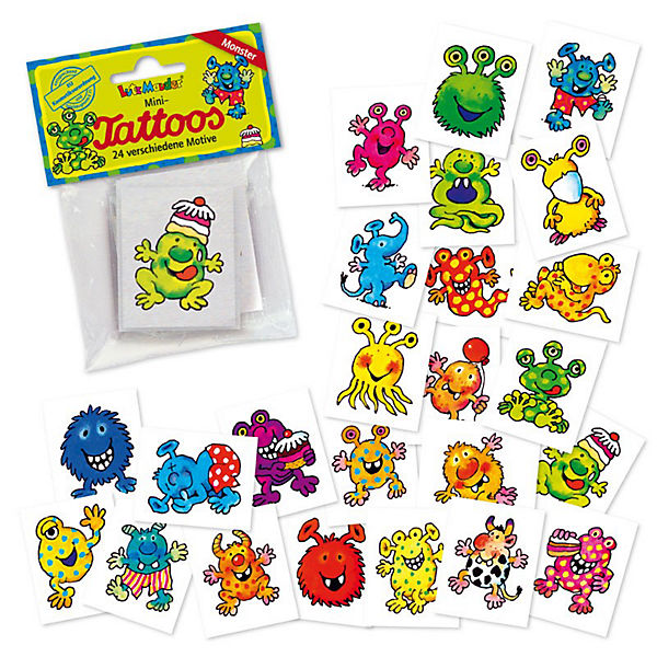 Mini-Tattoo-Set Monster 24-tlg.