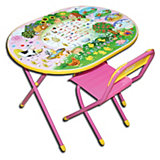 """Розовый набор мебели """"Веселая ферма"""" (овал, 3-7 лет), Дэми"""