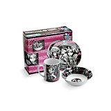 Набор посуды керамической в подарочной упаковке, Monster High