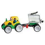 Traktor mit Fassanhänger