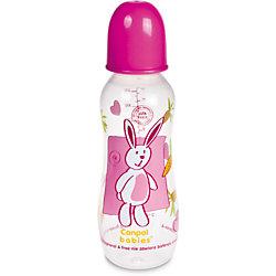 Бутылочка, от 0 мес., 330 мл., Canpol Babies, розовый