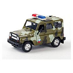 ТЕХНОПАРК Машина УАЗ hunter военная, с сиреной и мигалками