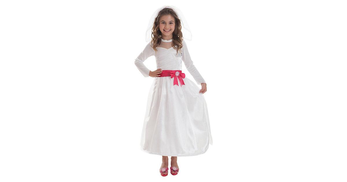 Kostüm Barbie weiß Gr. 116/128 Mädchen Kinder