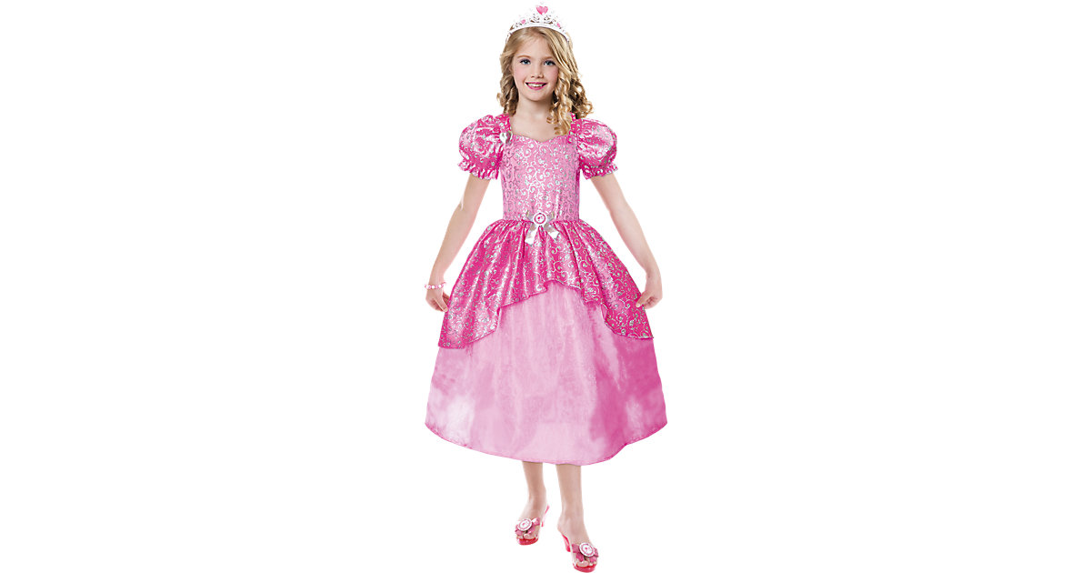 Kostüm Barbie Glitter Ballkleid Gr. 116/128 Mädchen Kinder
