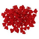 Filz-Stanzteile, Streudeko Herzen rot, 280 Stück
