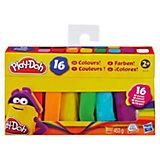Play-Doh - Knet-Dosen 16er-Pack - Zeig die Knete Farbenbox