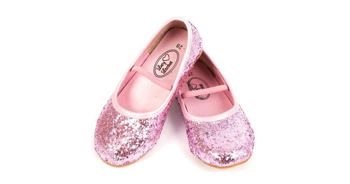 Glitzer Ballerina Schuhe Gr. 34 Mädchen Kinder