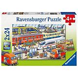 Пазл «На вокзале», 2х24 деталей, Ravensburger