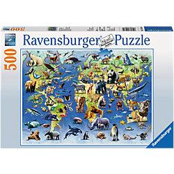 """Пазл """"Животные из красной книги"""" Ravensburger, 500 деталей"""