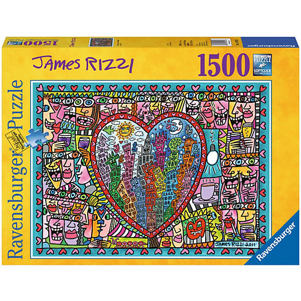 James Rizzi - All that Love in the Middle of the City, 1.500 Teile
