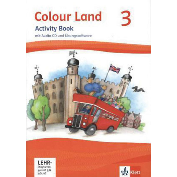 Colour Land, Ausgabe 2013: 3. Schuljahr, Activity Book m. Audio-CD u. CD-ROM