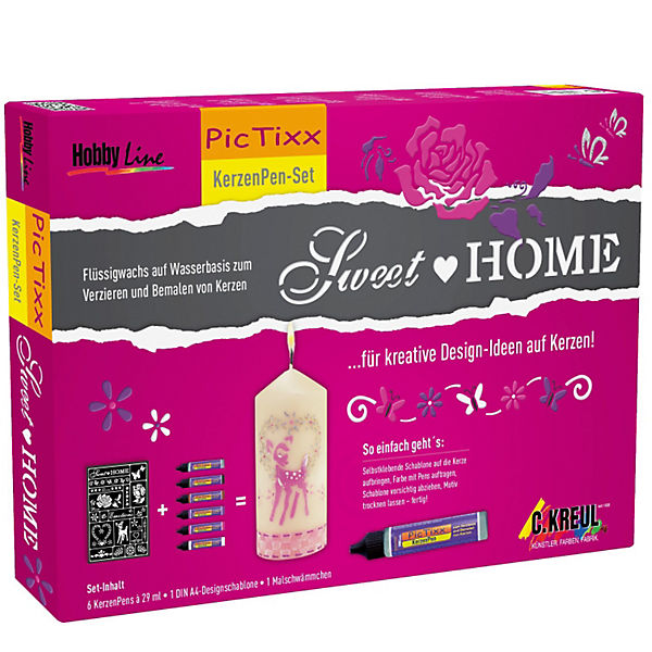 Hobby Line PicTixx-Set Kerzen-Pen Sweet Home