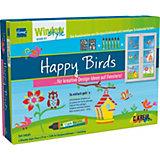 Home Design reativset Window Color Style Happy Birds, 6 Farben & Schablonen
