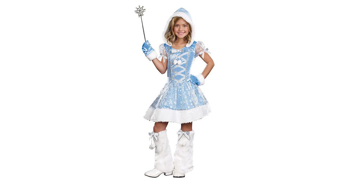 Kostüm Prinzessin Snowflake Gr. 140/152 Mädchen Kinder