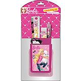 Barbie Набор канцелярский: подставка, карандаш, линейка, ручка