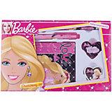 Barbie Набор канцелярский: записная книжка, ручка, карандаш, в подарочной коробке
