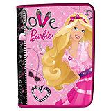 Папка для тетрадей А5, на молнии, Barbie