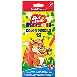Цветные карандаши шестигранные ArtBerry Premium, 12 цветов