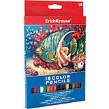 Цветные карандаши шестигранные ArtBerry, 18 цветов