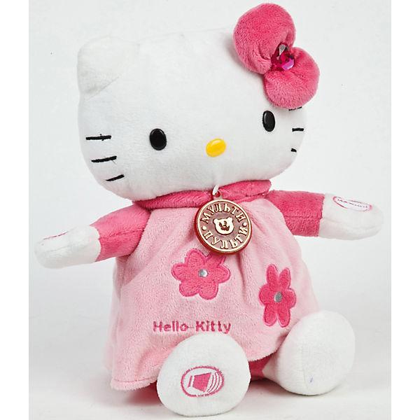 Мягкая  игрушка Hello Kitty, 25 см, со звуком, МУЛЬТИ-ПУЛЬТИ